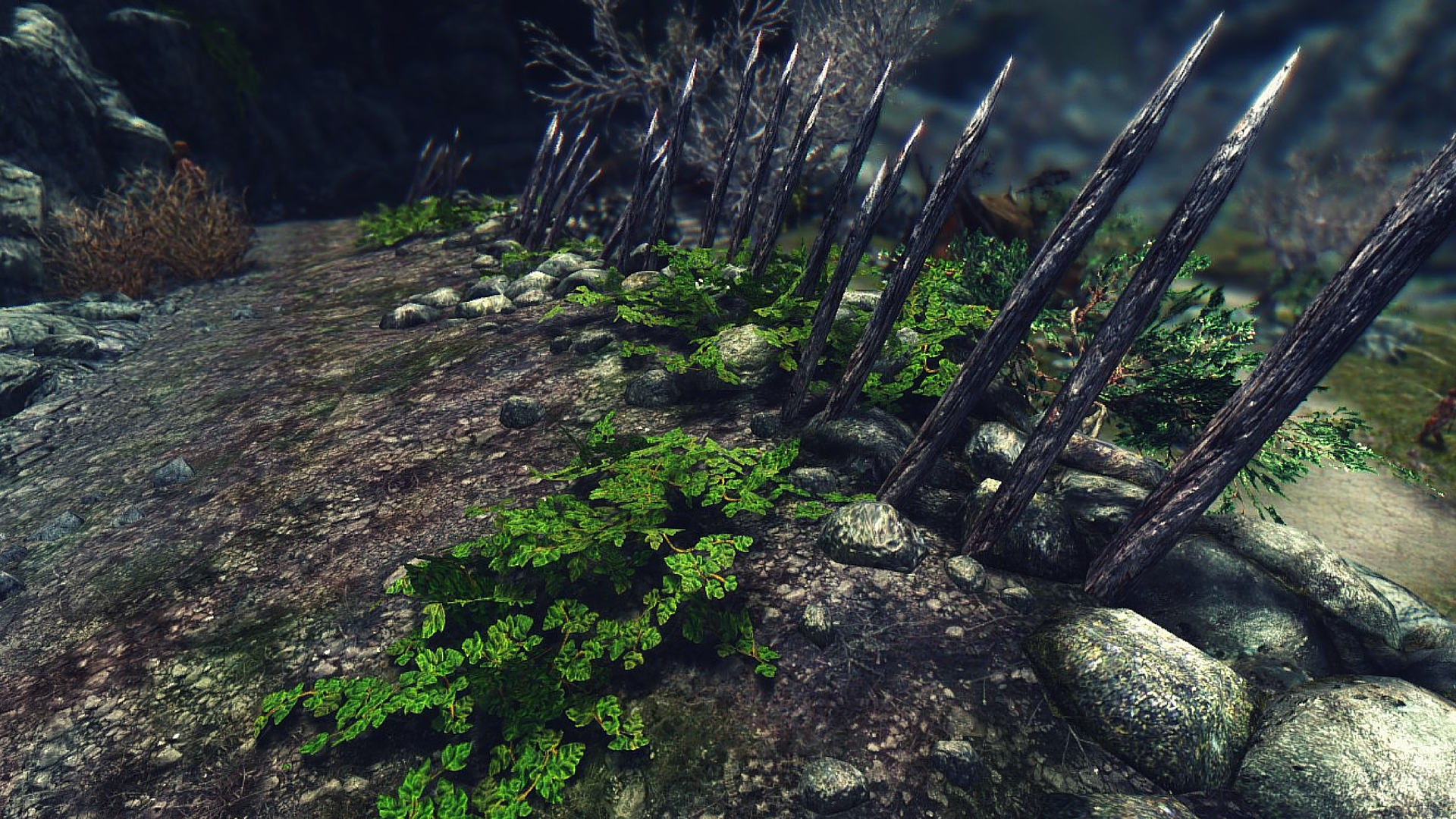 skyrim immersion mod leaves fence