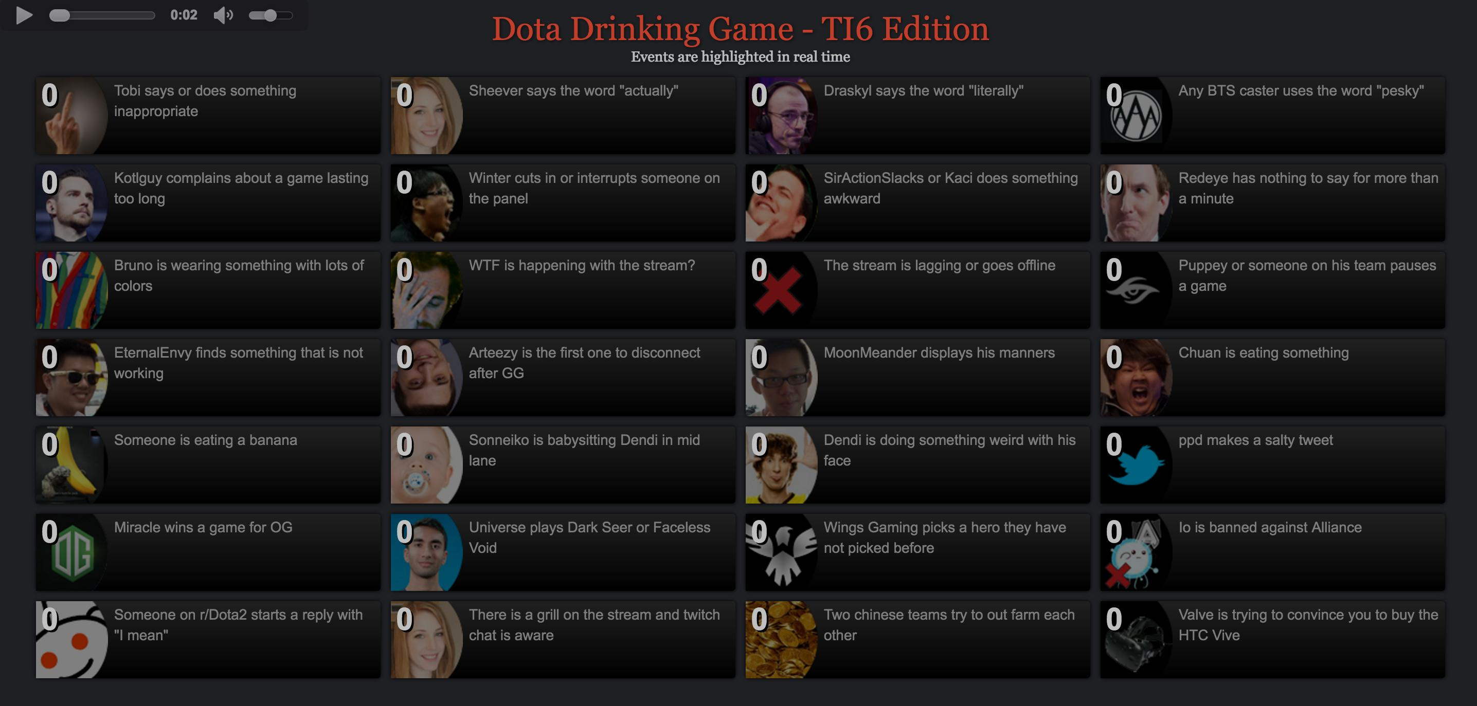 dota 2 drinking game ti6