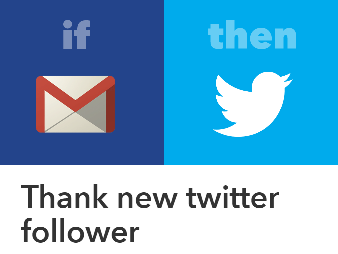 thank new twitter follower automatically using ifttt