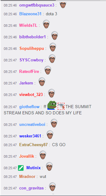 twitch chat spams anele