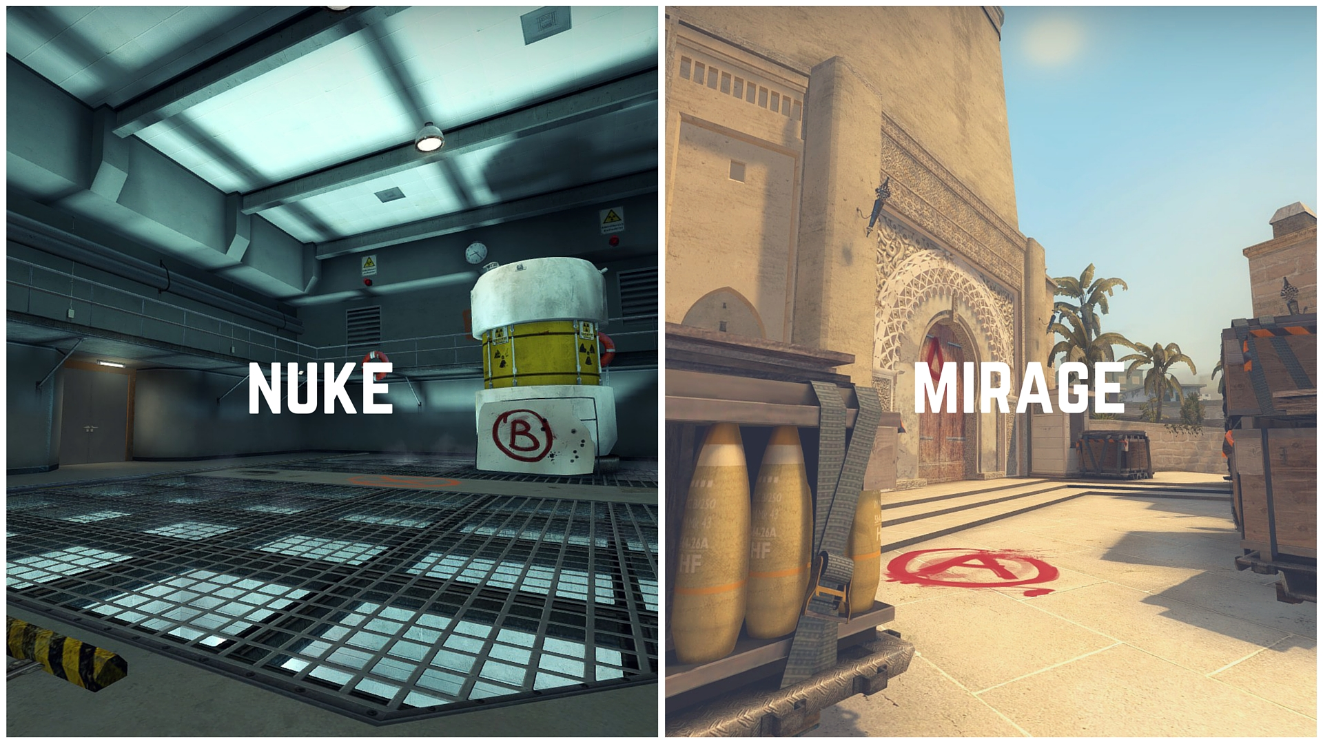 csgo mirage and nuke maps