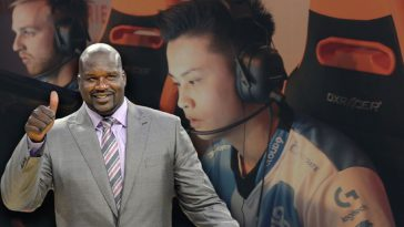 shaq e-sports investment, along with stewie2k in the background