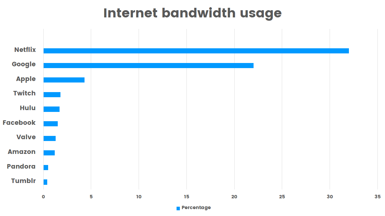 internet bandwidth usage by company
