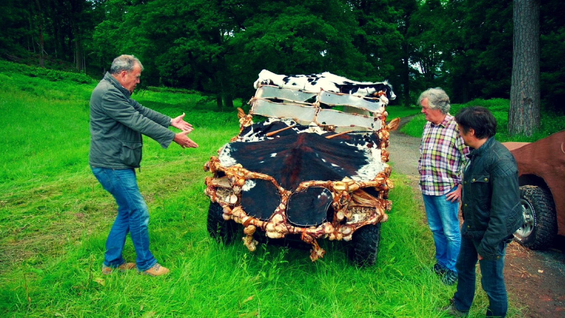 Grand Tour Season 1 Episode 4 Car Made out of Cow and Animal Bones
