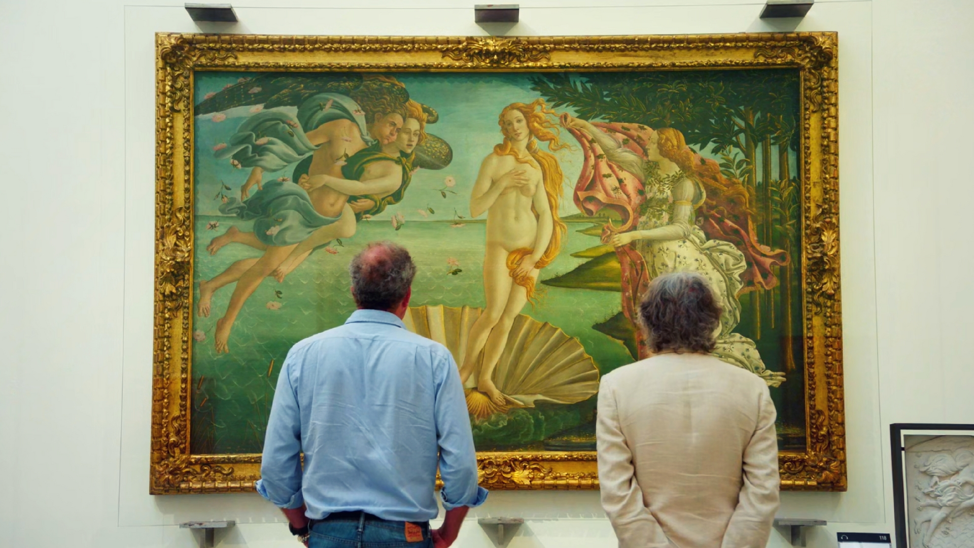 Jeremy Clarkson and James May look at art in Italy during The Grand Tour Episode 3