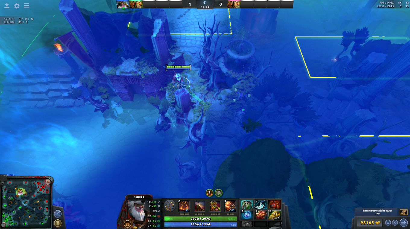 Dota 2 7.02 Fog of War Simulator with Wards