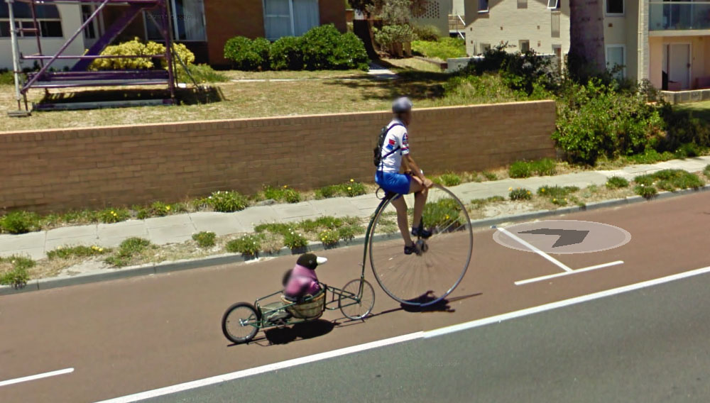 google maps shenanigans bicycle