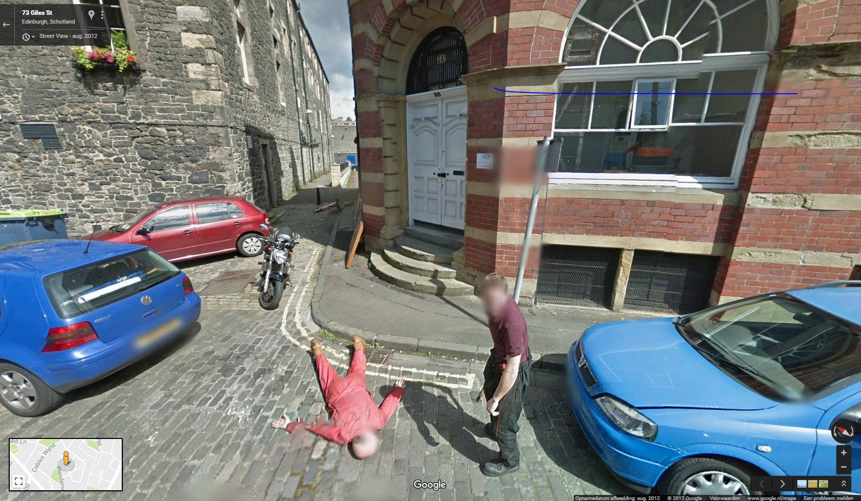 google maps shenanigans edinburgh
