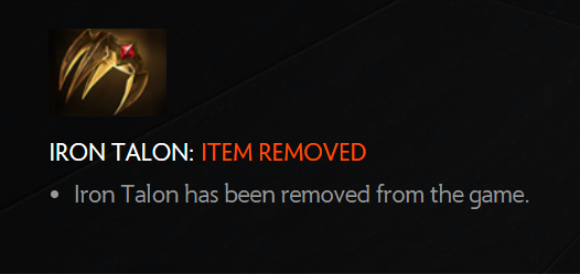 Iron Talon Removed 7.07