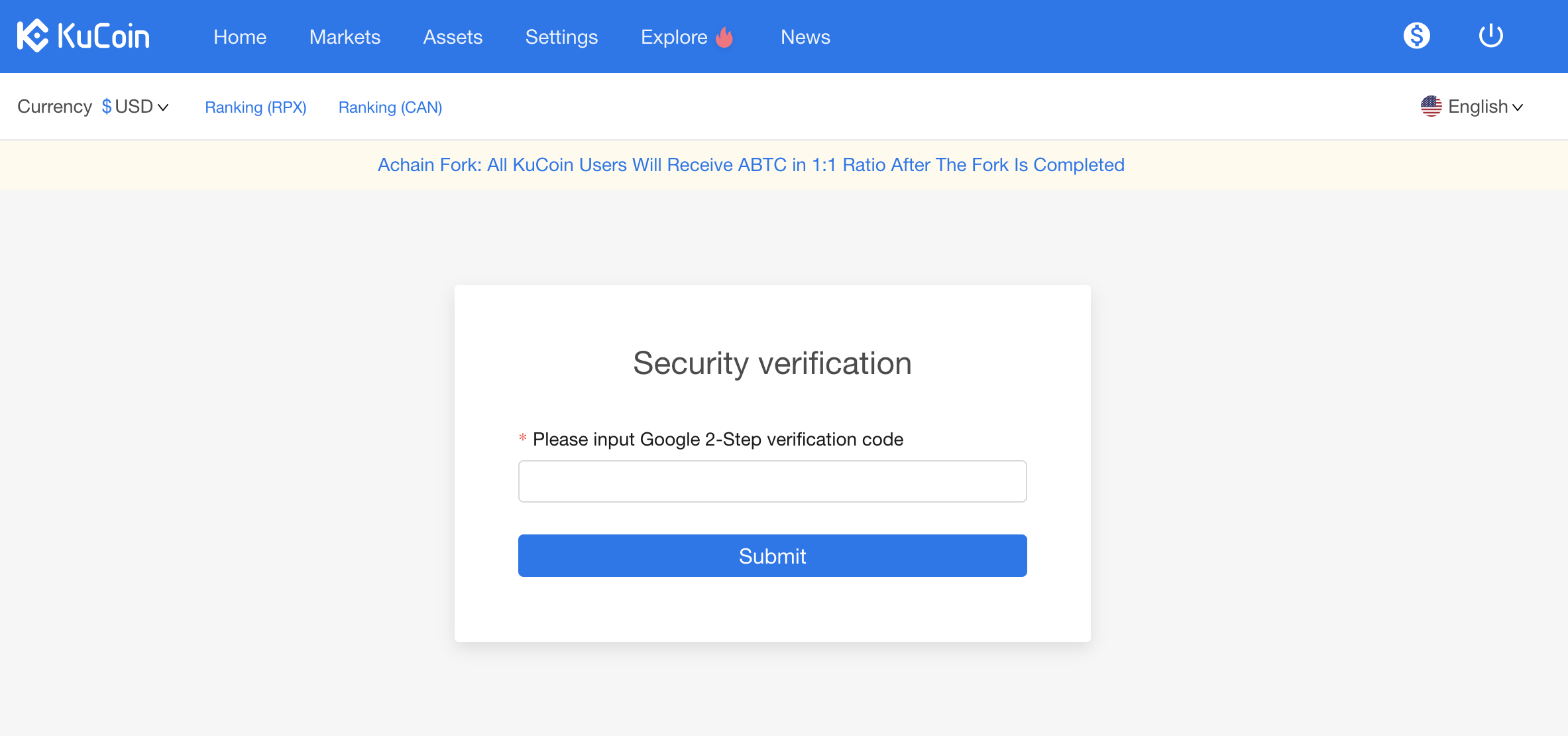 Kucoin Two Factor Authentication