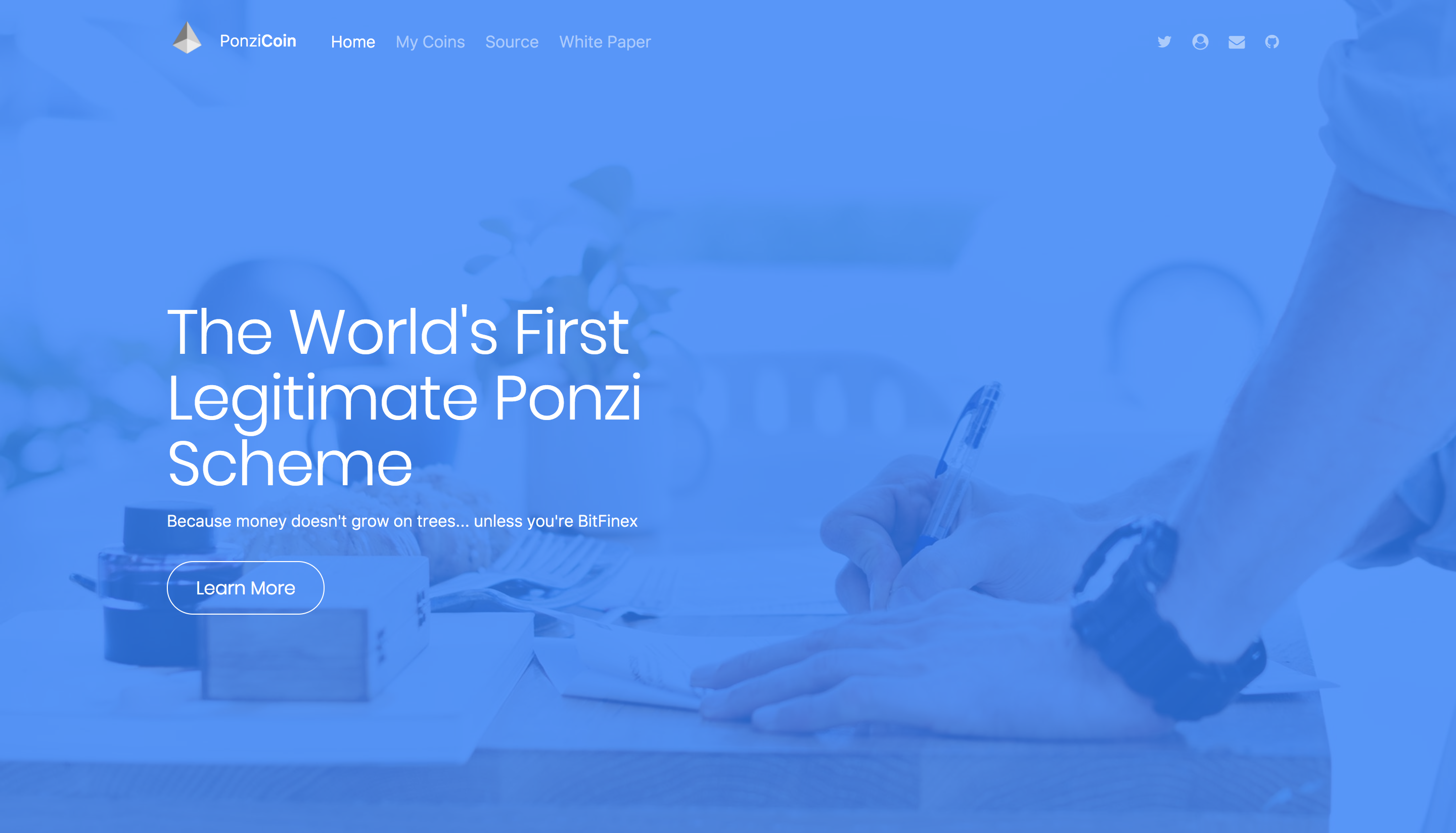 ponzi coin website