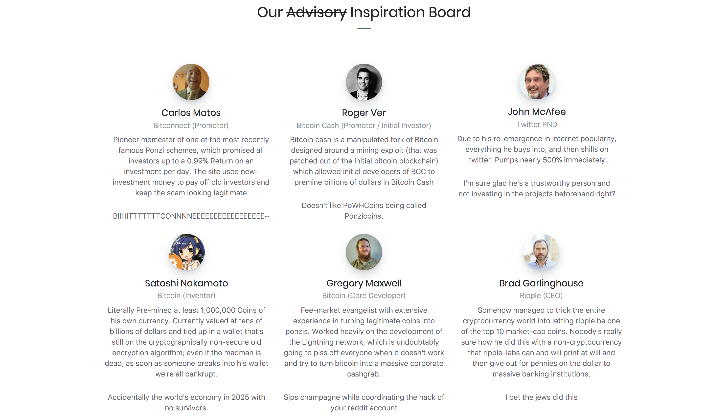 proof of weak hands advisory board